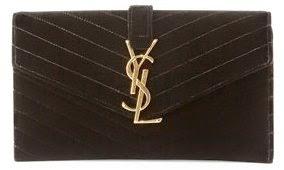Monogramme Small Velvet Clutch Bag