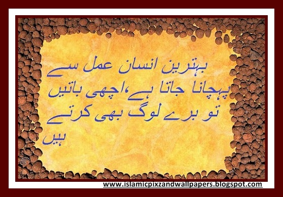 Islamic pictures and wallpapers aqwal e zareen in urdu
