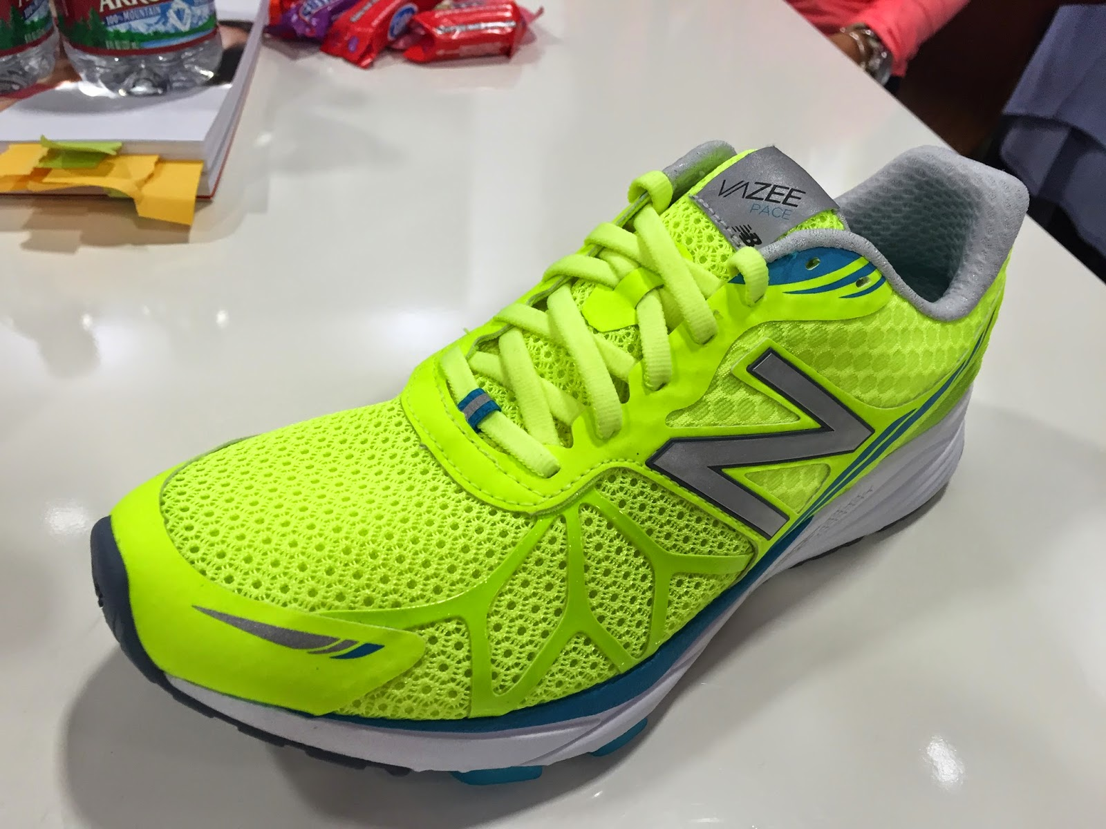 Womens New Balance Vazee Summit Green Yellow Running Shoes Z45830