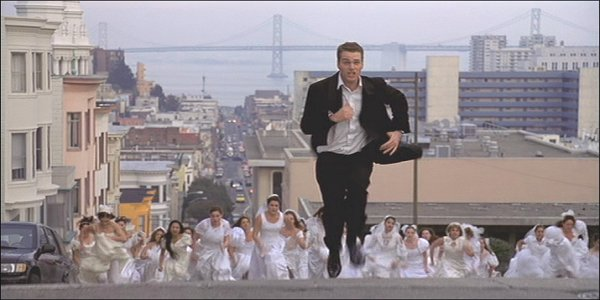 Image result for chris O'donnell gifs brides chasing him
