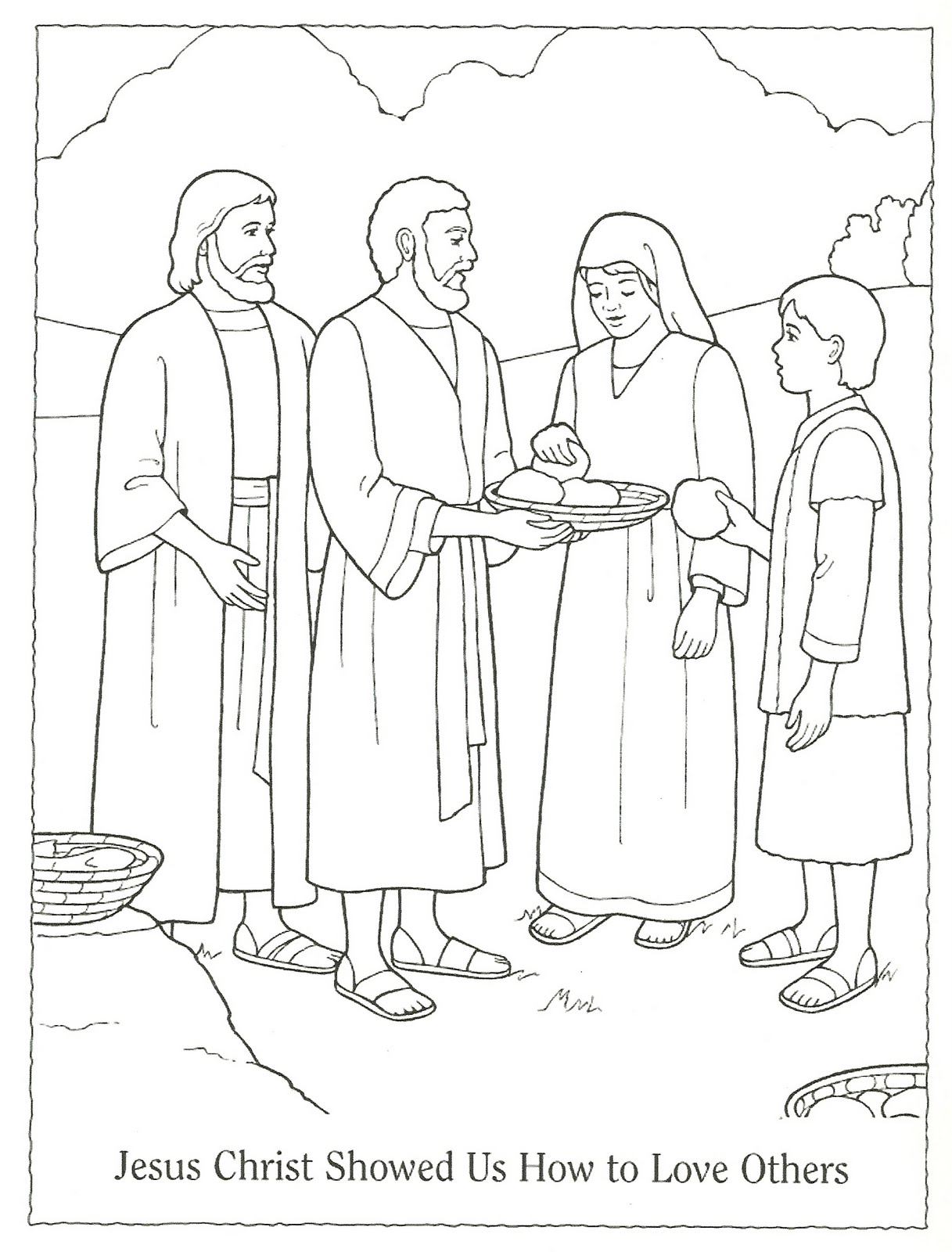 Free Coloring Pages Love One Another : Free serve one another coloring pages