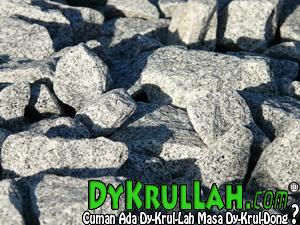 Air Menetes, dan dengan Waktu, Akan Melubangi Batu Granit