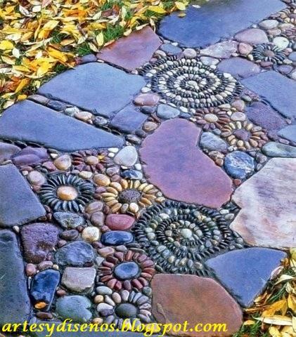 pisos con piedras para jardines by