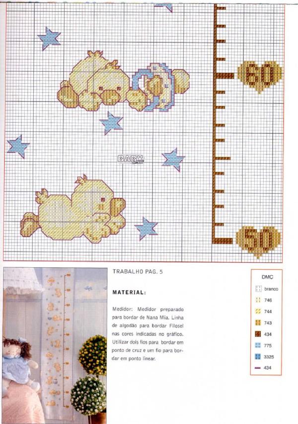 Схемы для вышивки крестиком ростомеров