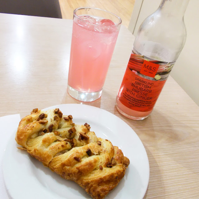 Weekly Reflect #55 // Rhubarb & ginger presse at the Marks and Spencer cafe!