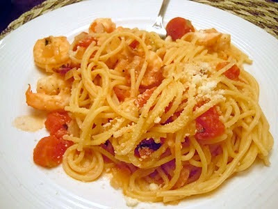 The Savvy Kitchen: Pasta with Bacon and Shrimp in a Tomato Cream Sauce