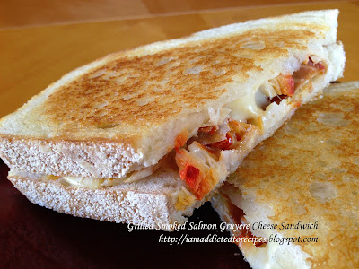 Smoked Salmon Gruyere Grilled Cheese Sandwiches | Addicted to Recipes