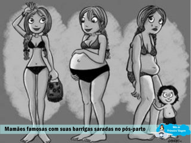 Mamães famosas com suas barrigas saradas no pós-parto