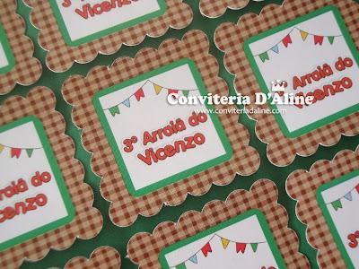 adesivos personalizados festa junina