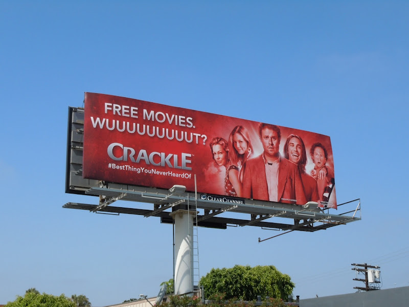 Crackle comedy movie billboard