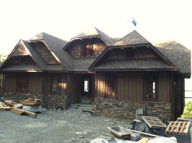 Dm builders cedar bark siding blowing rock nc for Bark house siding