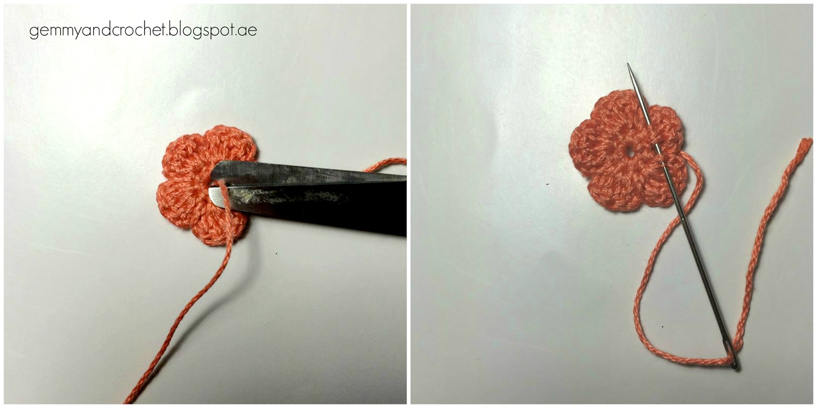 crochet flower, 5 petals flower, crochet, basic flower crochet, tiny crochet flower, flower embellishment, flower decor