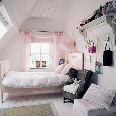 dormitorio juvenil estilo romántico