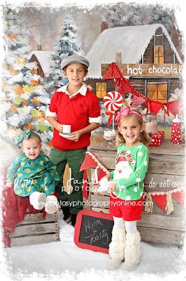 Winston Salem Childrens Christmas Portraits Photographer - Fantasy Photography llc