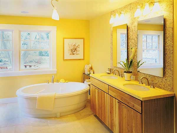 Bathroom Yellow and White