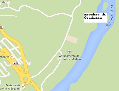 Localização das Azenhas