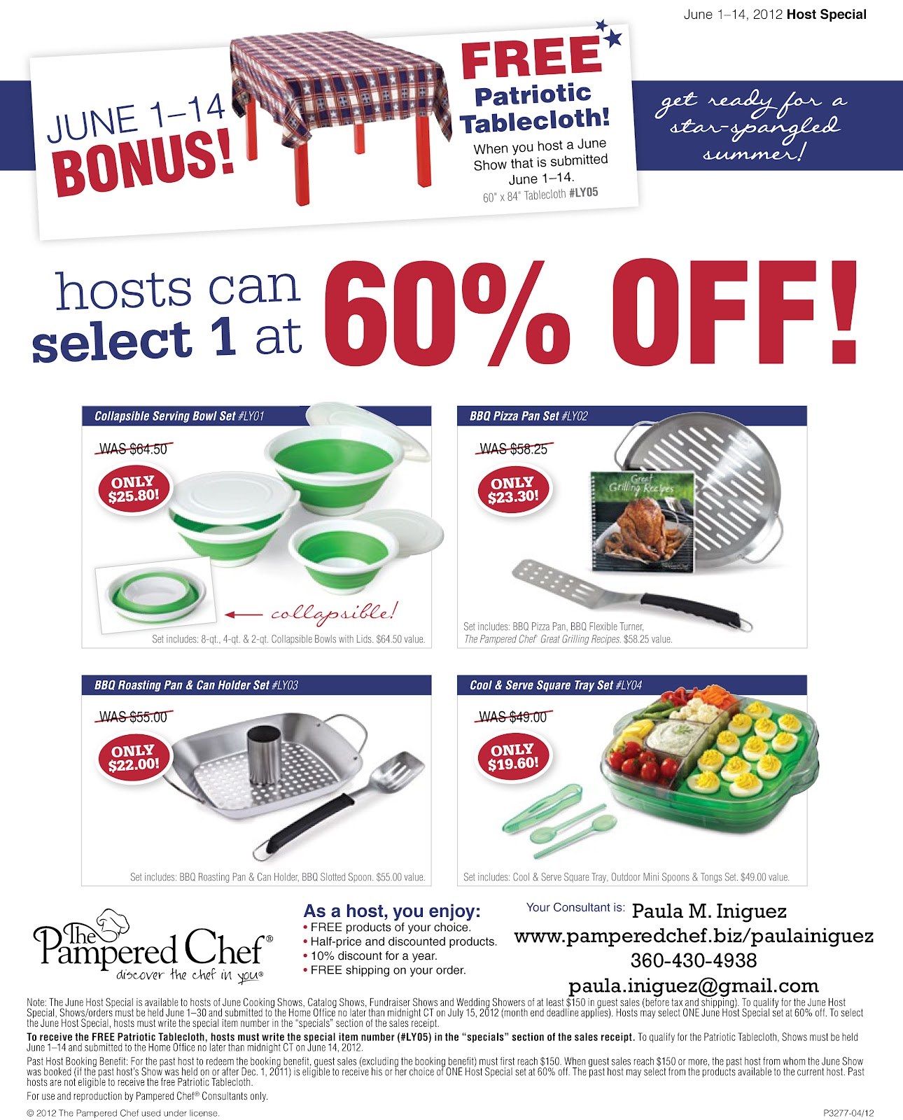 Pampered Chef Host Special July 2014