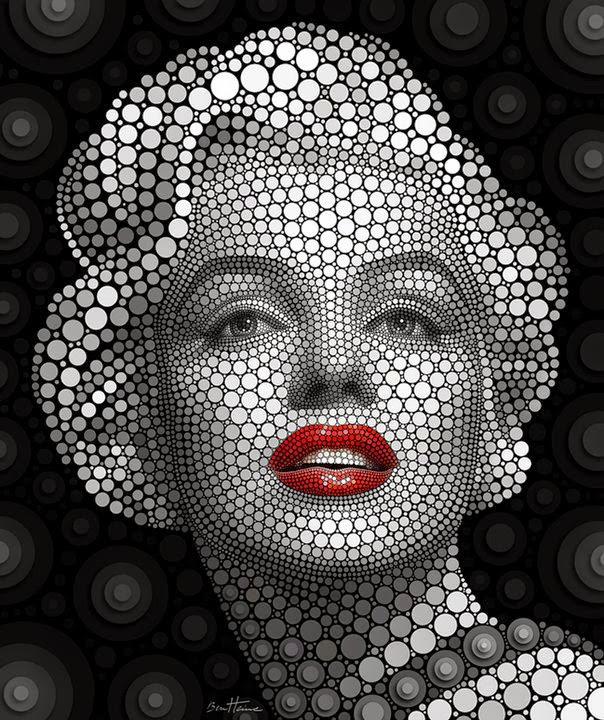Benjamin Heine, Digital Circlism, Marilyn Monroe