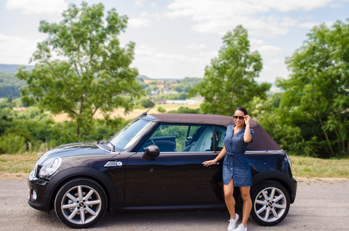 Driving in Luxembourg in a Mini Cooper