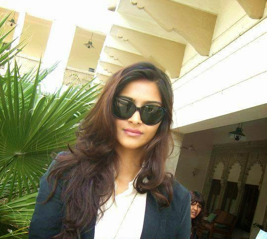 sonam kapoors house in her parking hot pic in sunglasses