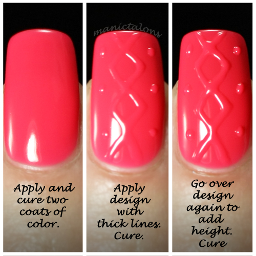 3D Nail Art with Purjoi One Step Gel Polish