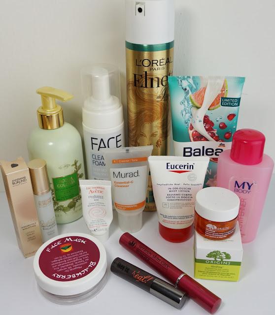 Aufgebrauchte Kosmetik - Juni 2015 Balea, Origins, benefit, Heymountain, Annemarie Börlind