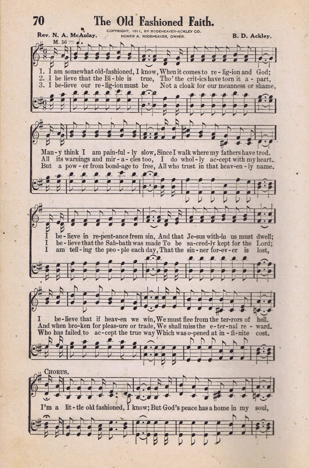The old fashioned faith antique hymn book page from knick of time