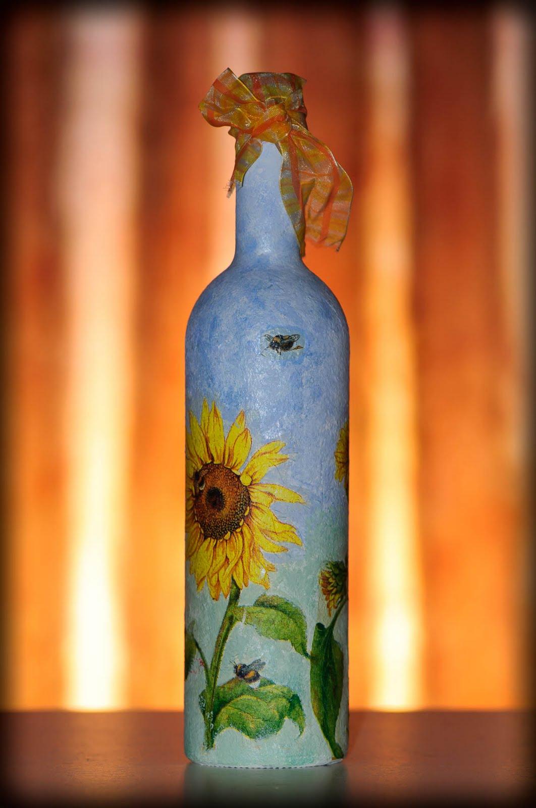 Бутылки для декупажа фото