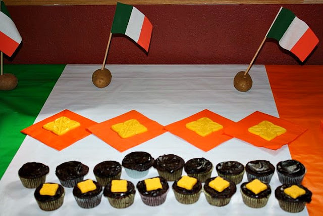 Irish Welcome Home Party cupcakes