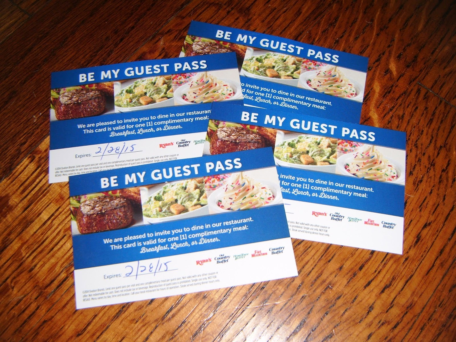 8 Weeks of Giveaways Week #2: Family Meal Pass Giveaway ends 4/14
