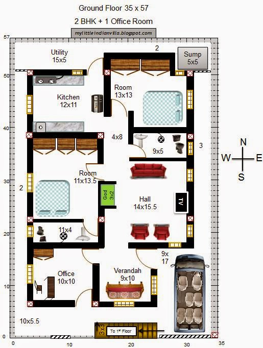Terrific 3bhk House Plan India Ideas Best inspiration home