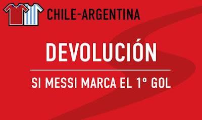 sportium bono 50 euros devolucion Final Copa America Chile vs Argentina 4 julio