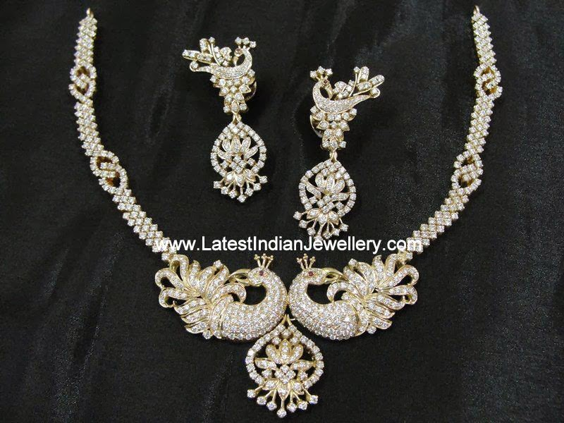Peacock Design Diamond Necklace