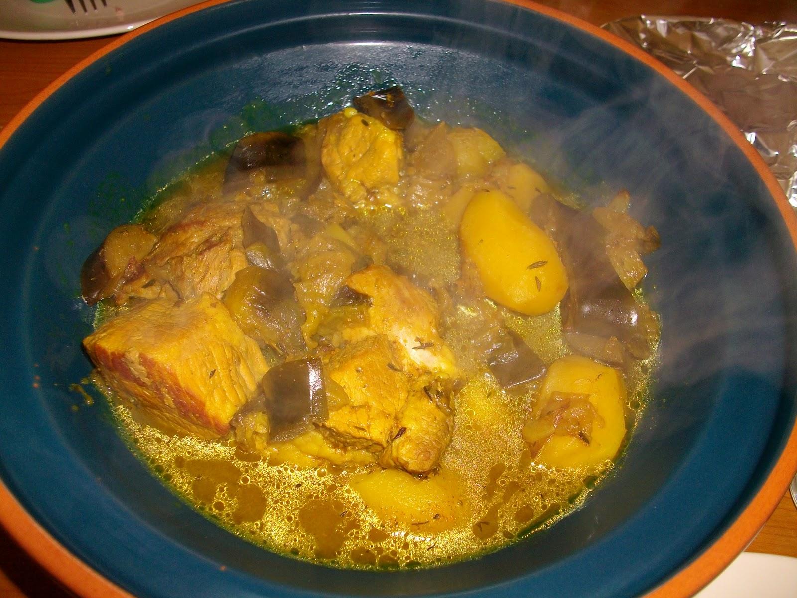 Mon livre de cuisine saut de porc aux aubergines et au curry - Cuisiner un saute de porc ...