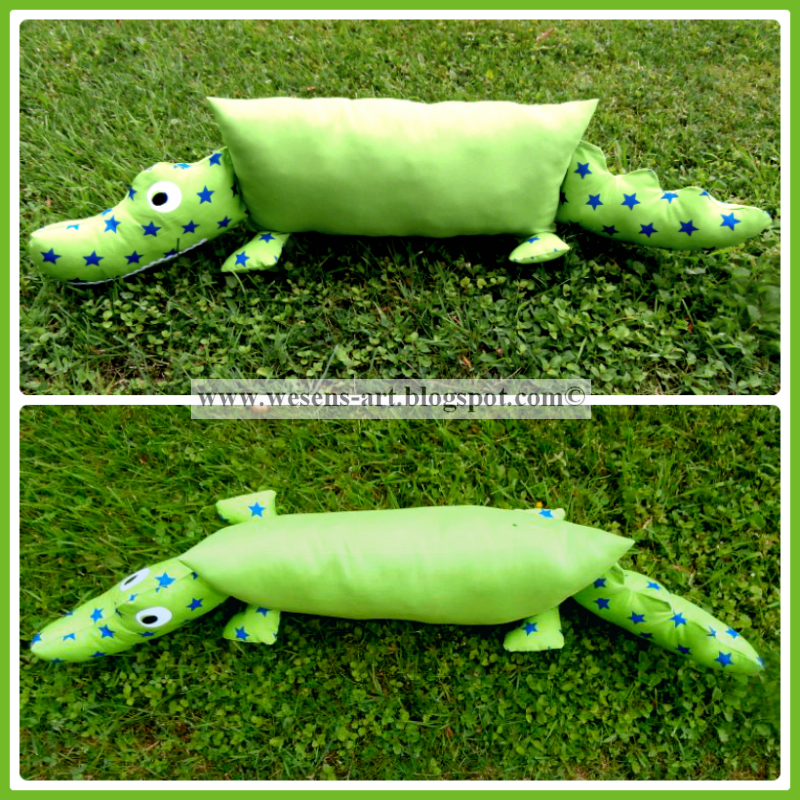 CrocodilePillow     wesens-art.blogspot.com