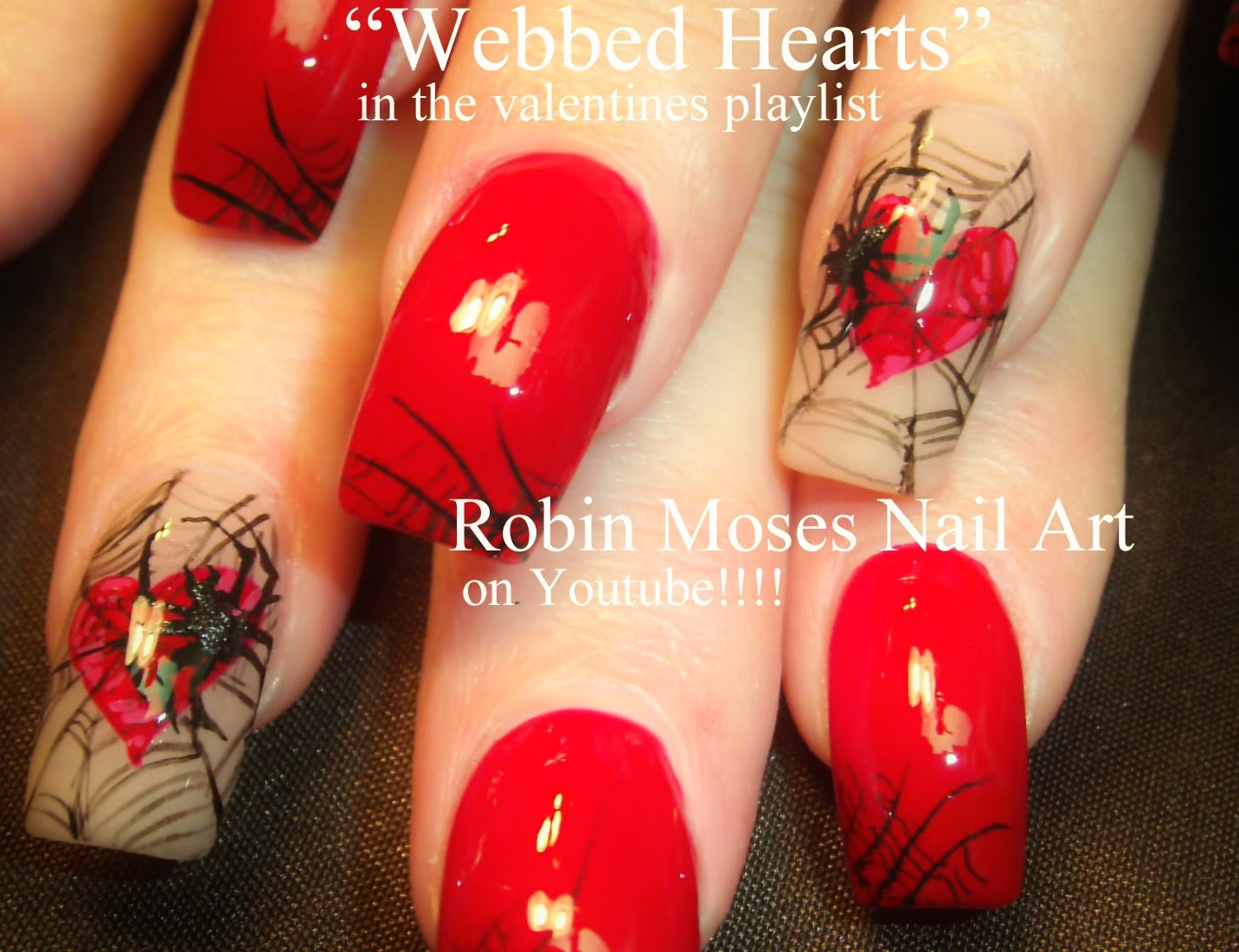 Robin moses nail art heart nails valentine nails spiderweb over 60 valentines day nail art designs to learn go here valentine nails prinsesfo Choice Image