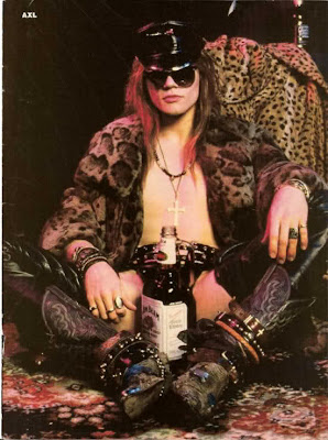 axl rose sunglasses fur alcohol