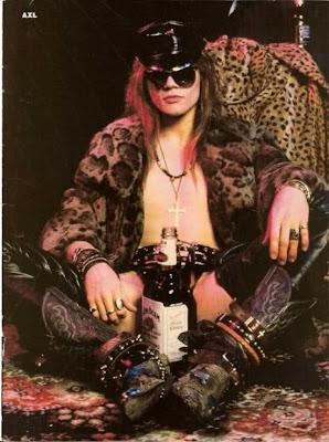 axl rose sunglasses fur alcohol