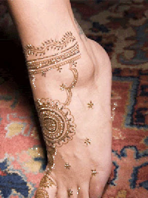 Latest Feet Mehndi Designs Pictures