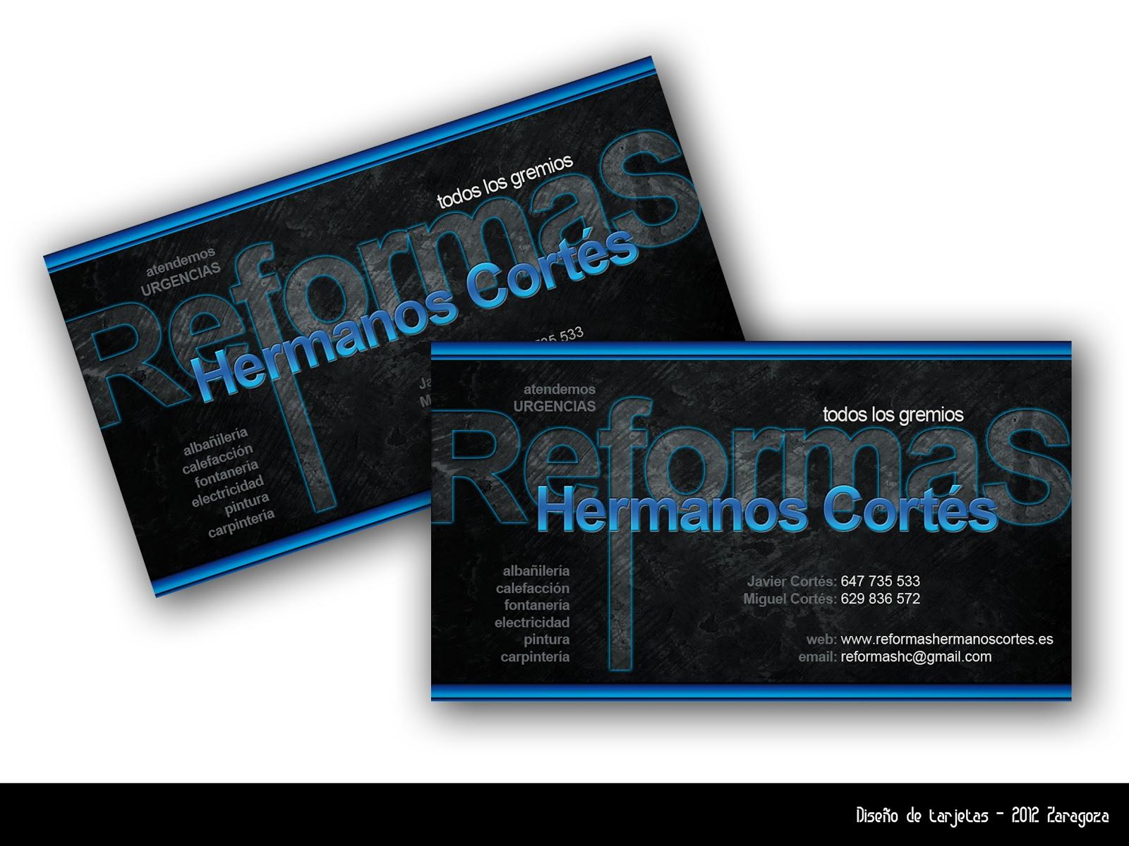Visualmachine tarjetas de visita empresa de reformas for Empresas de reformas