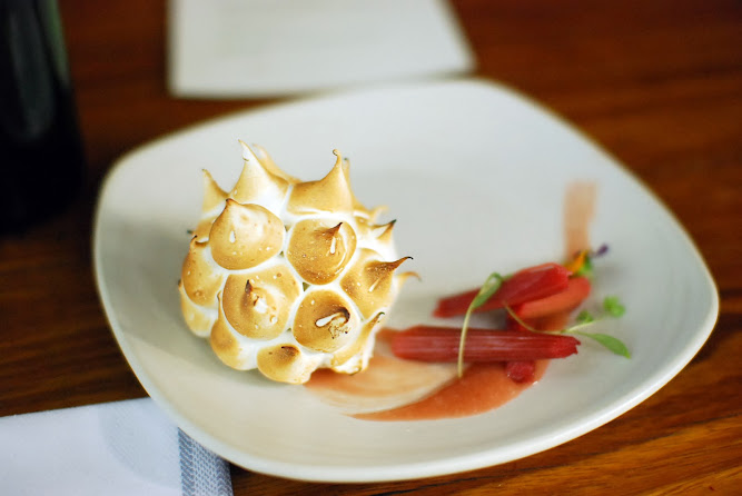 Chiswick Restaurant NSW Collective Menu Dessert Rhuburb bombe Alaska