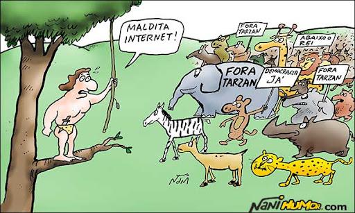 O poder e as redes sociais. democracia; egito; irã, oriente médio; israel; tarzan