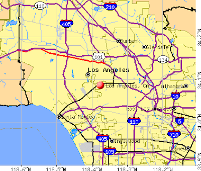 Highway map of Los Angeles