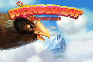 Screenshots of the Wondercat adventures for Android tablet, phone.