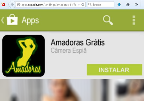 Malicious app download from fake Google Play Store
