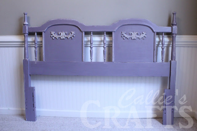 how to distress furniture, Silverado by Olympic, chalk painted headboard