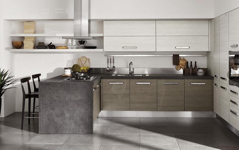 Colores de muebles de cocina modernos cocina comedor for Muebles de cocina modernos color blanco