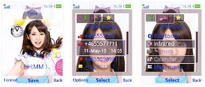 江口愛美@AKB48 SonyEricsson手機主題for Elm/Hazel/Yari/W20﹝240x320﹞
