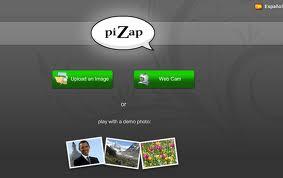 ... meninjau secara langsung website pizap yang terdapat di www.pizap