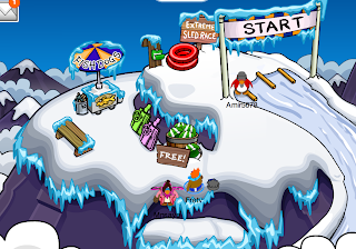 Club Penguin Great Snow Race Party Cheats